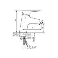 Смеситель для умывальника Koller Pool Twin TN0200