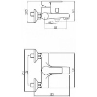 Смеситель для ванны Koller Pool Kvadro ARC KA0100