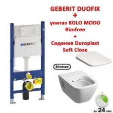 Инсталляция Geberit 458.126.00.1 + унитаз Kolo Modo Rimfree L33120000 сидение Soft Close