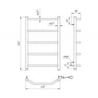 Электрический полотенцесушитель Mario Трапеция HP-1 650х430