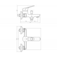 Смеситель для ванны Mixxen Эмшер SL2123
