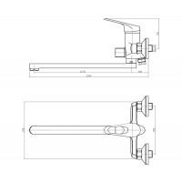 Смеситель для ванны Mixxen Эмшер SL2124