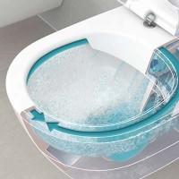 Набор Villeroy&boch 5656RSR1 Унитаз подвесной AVENTO Direct Flush покрытие Ceramic+