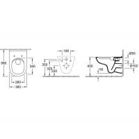 Унитаз подвесной с крышкой Villeroy&boch O.NOVO Direct Flush 5660R001 (soft close)