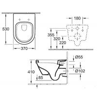 Унитаз подвесной с крышкой Villeroy&boch Omnia Architectura Directflush 5684HRR1 покрытие Ceramic+