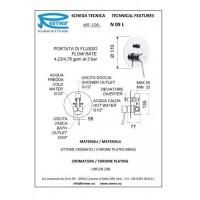 Смеситель для ванны REMER MINIMAL N09L
