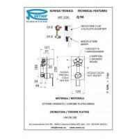 Смеситель для ванны REMER QUBIKA Q94 (четырех ходовой)