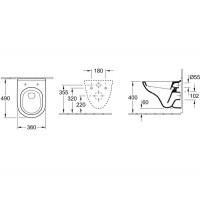 Унитаз подвесной с крышкой Villeroy&boch O.NOVO 56601001 (soft close)