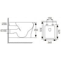 Унитаз подвесной Volle LEON Rimless 13-11-160