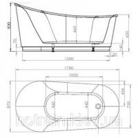 Ванна акриловая Volle 12-22-610 отдельностоящая
