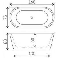 Ванна акриловая Volle 12-22-612 отдельностоящая