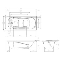Ванна акриловая Volle FIESTA TS-1570435