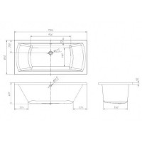 Ванна акриловая Volle TEO TS1780500